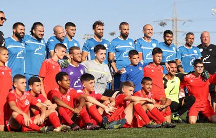 קבוצת ילדים א' ארחה את נבחרת ישראל קטועי גפיים